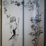 Стекло с покраской и рисунком